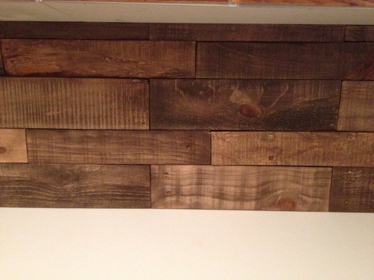 DIY Kitchen backsplash using pallet wood Minwax special