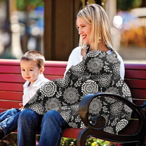 cotton Imported A fashionable, durable and comfortable baby sling that is adjustable for babies between 6 and 26 pounds.