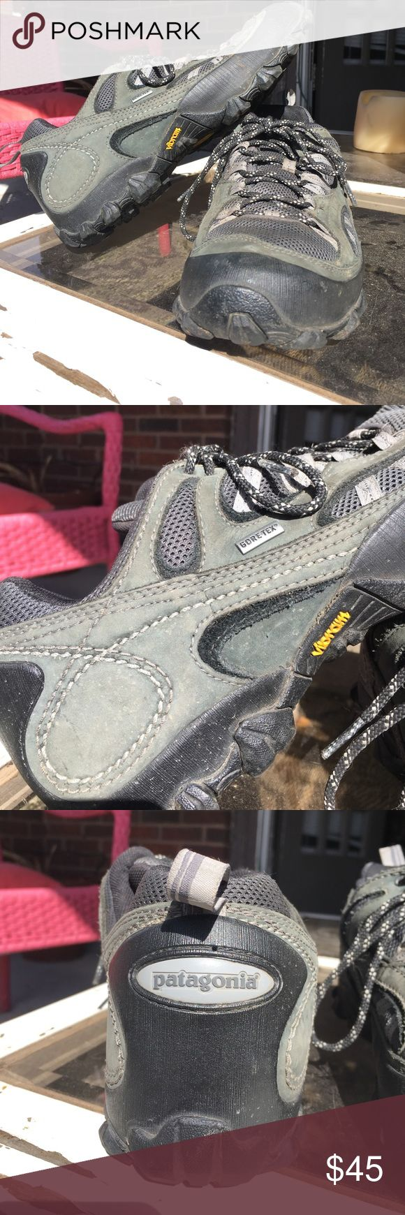 Patagonia Vibram Men's Shoes Size 9, Hardly worn. In great condition. Gore-tex Vibram Sneakers. Forge Grey and waterproof. Patagonia no longer makes shoes so these won't be around long! Feel free to ask any and all questions! Patagonia Shoes Athletic Shoes