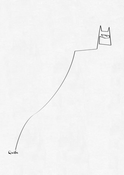 Batman in one line, by Quibe