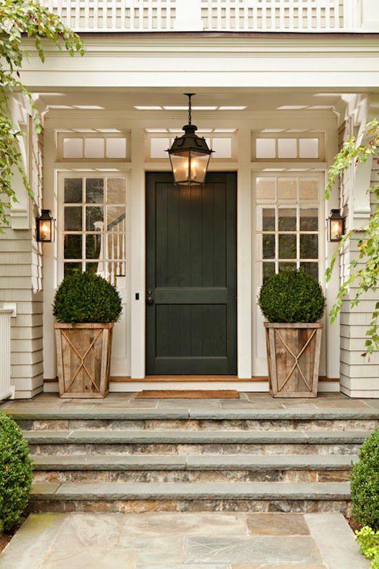 Front Door Drama- lots of ideas, paint colors, plant ideas ...
