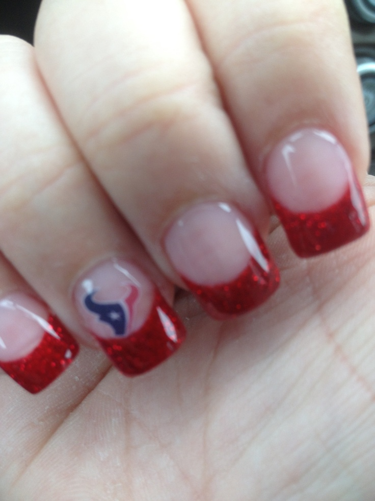 Houston Texans nails! Gotta do these for sure!