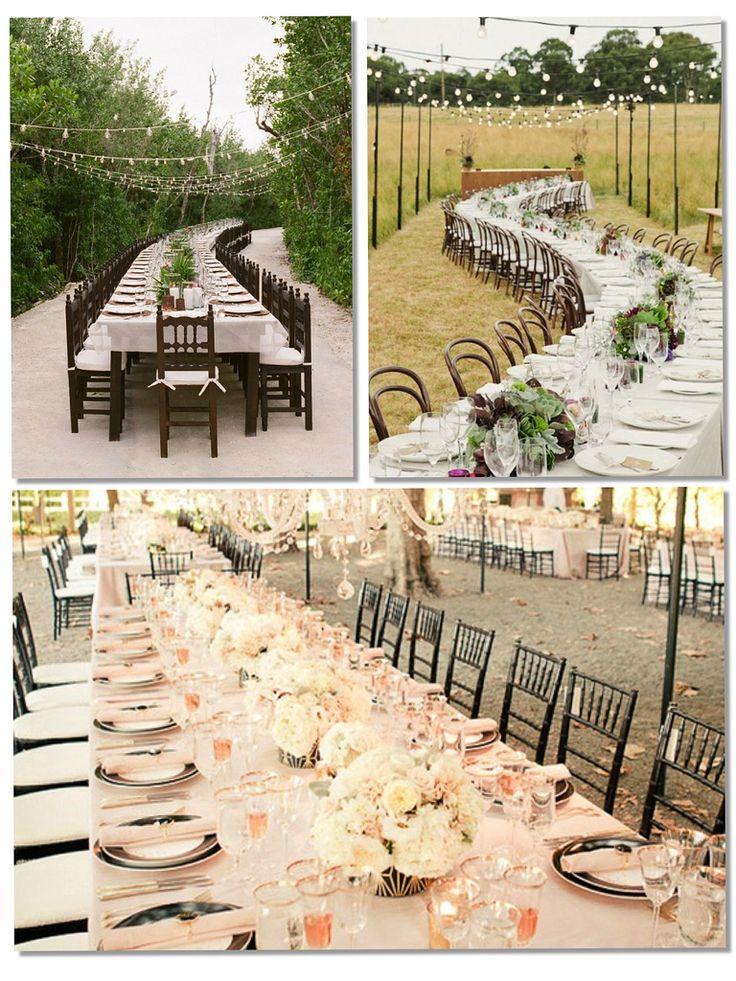 FRIDAY WHAT?: Las mesas largas en las bodas