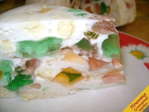 Бисквитно-желейный торт 'Мозаика'