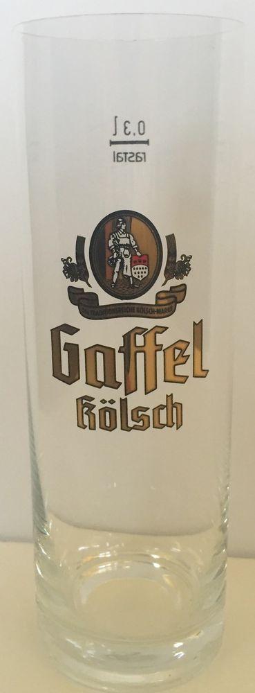 Gaffel Kolsch German Beer Glass 0 3 Liters Drinking Collectible Flawed | eBay