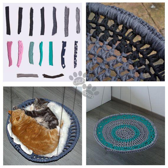 ***CUSTOM HAMMOCK***  Unieke handgemaakte hangmat voor je kat!  De hangmat is klaar voor gebruik, heeft een grote ring waar je hem aan kunt ophangen. In je woonkamer of buiten met lekker weer! ☀  De hangmat heeft een roestvrijstalen ophangsysteem waardoor het een regenbui aan kan. Ook is hij in hoogte verstelbaar met een maximum hoogte van 2.50m  Ervaring leert dat grote katten vaak te zwaar zijn voor de leuke kattenhangmatjes (en andere producten voor katten) en daarom ben ik er zelf een…