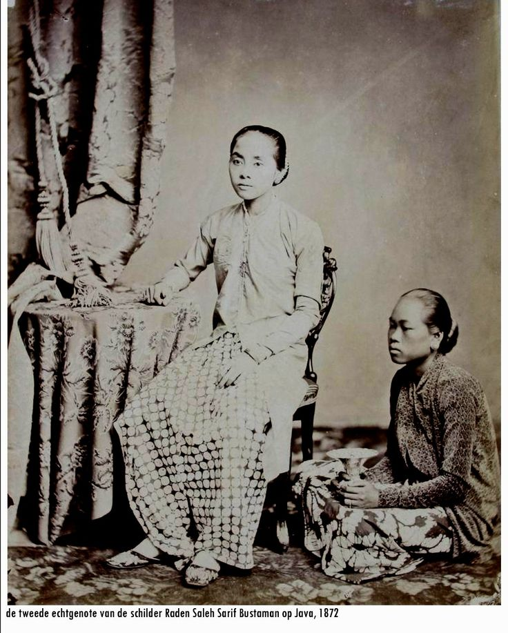 Indonesia, Java ~ Wife of famous Indonesian painter ~ 1872