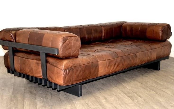 Mid-Century Modern Vintage Swiss De Sede Ds 80 Patchwork Leather Daybed, 1960s For Sale | 7M Woodworking specializes in vintage modern decor, with unique handmade wooden tables, reclaimed barn beam lightning, and other woodworking projects. Check out www.7mwoodworking.com (312) 545-0331