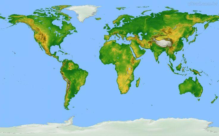 Papel de Parede - Mapa da Terra