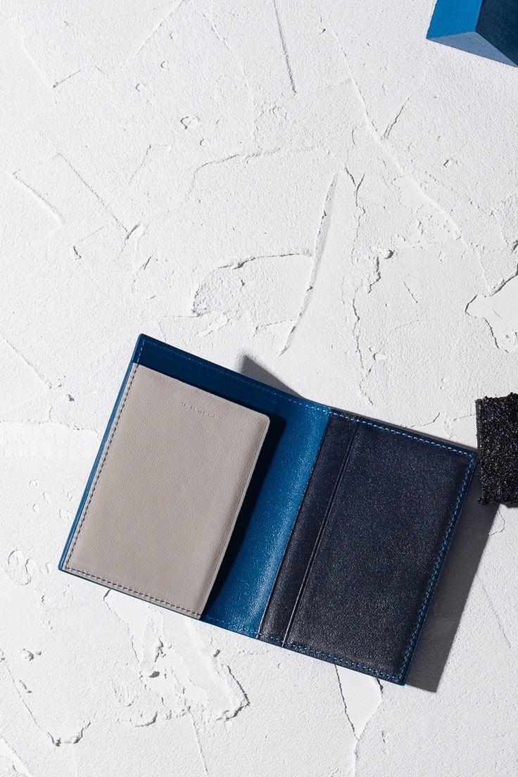 16FW LUCCICA card holder - pale blue #LUCCICA #no01paleblue #16FW #SLG
