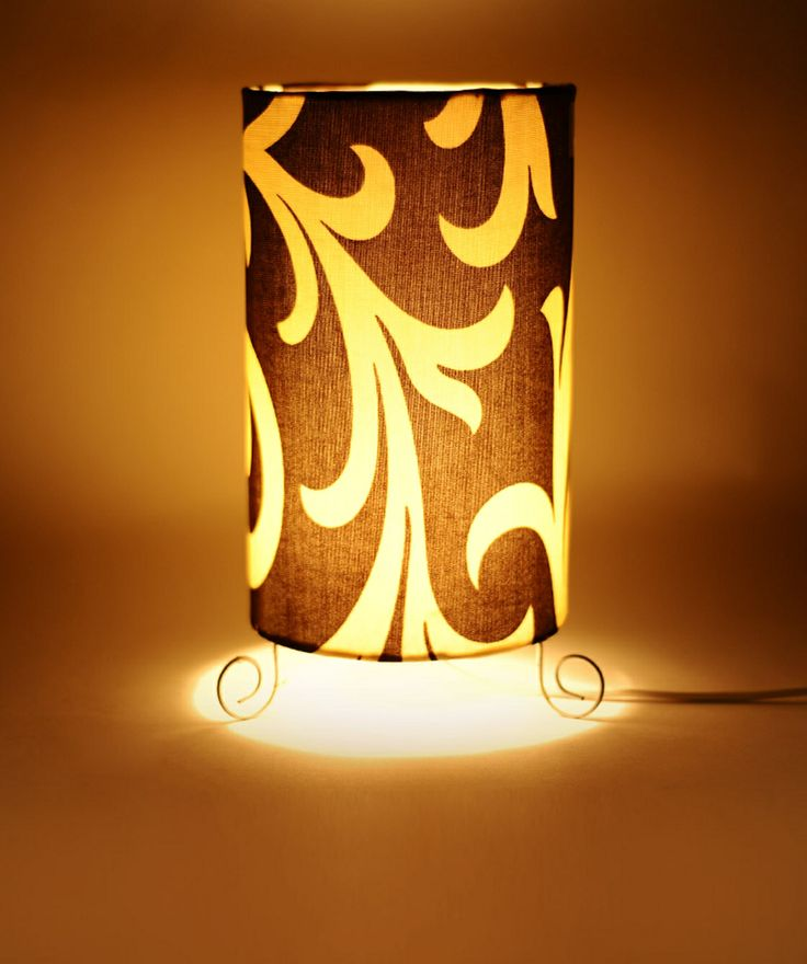 CATEGORY: Lamp Shade COLOUR: Brown and Beige MATERIAL: Polyester and Metal