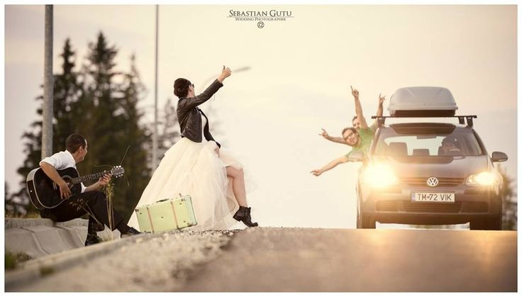 #wedding #road #car