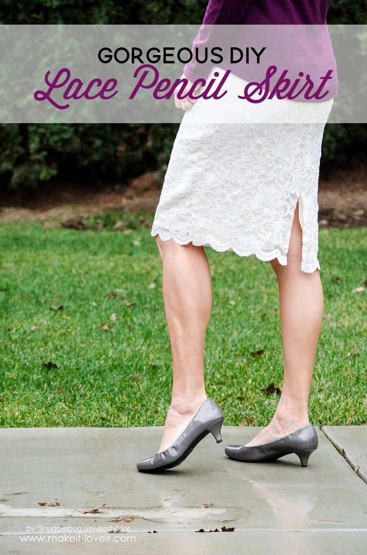 Learn how to sew your own gorgeous lace pencil skirt in minutes, using your own measurements. You'll love how easy this is.