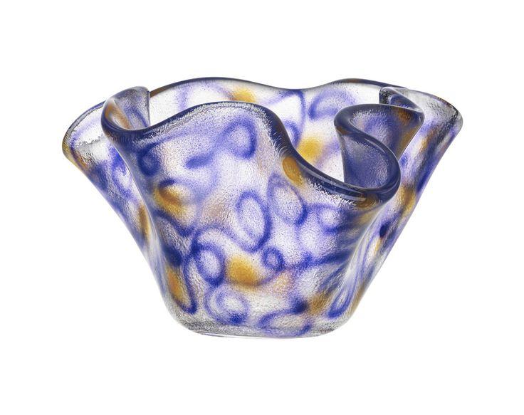 Happy Going bowl purple, design by Ulrica Hydman Vallien for Kosta Boda