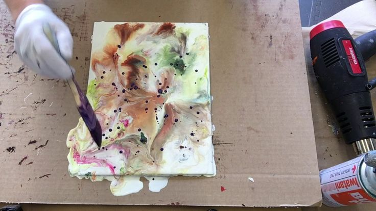 Wax on Wednesdays Encaustic Painting Wax Excavation And Fluid Movement