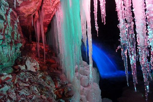 Inside A Ice Cave: Sherman Falls, Ice Caves, Bucket List, Caves Wonderland, Magical Places, Places I D, Amazing Caverns