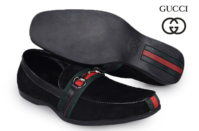 Gucci Mens Horsebit Suede Loafers Black Green Red