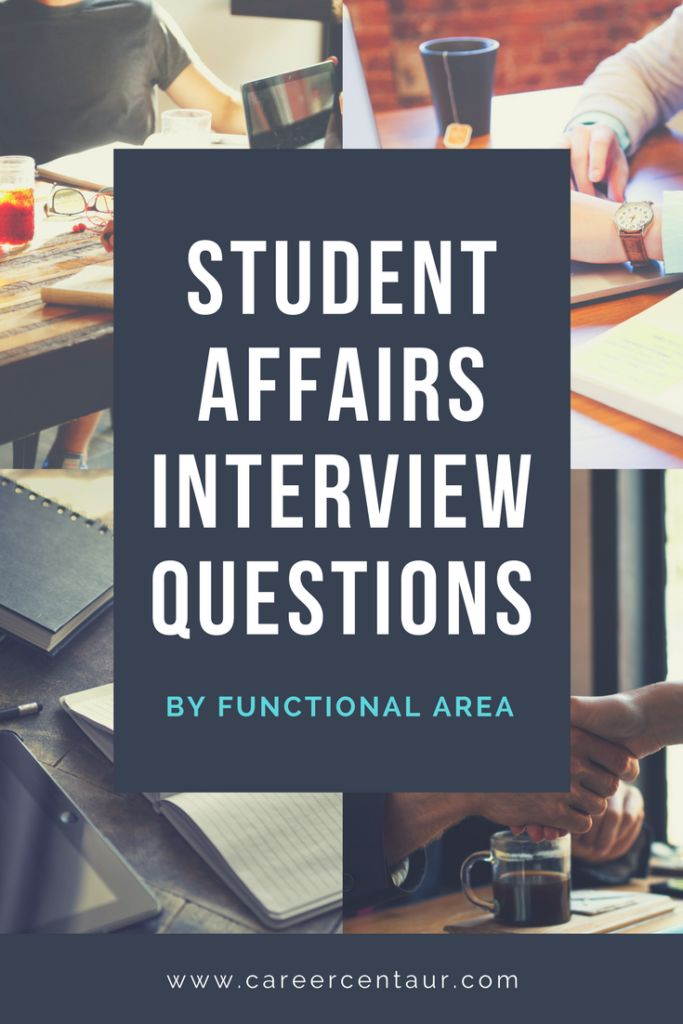 Student Affairs Interview Questions by Functional Area