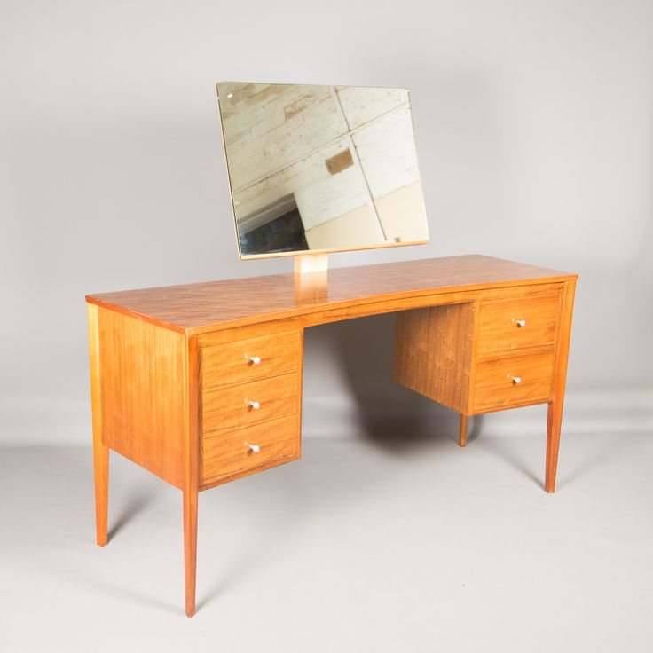 Gordon Russell Retro 1950s/1960s  Walnut Dressing Table with Drawers & Mirror Desk by TomahawkFurniture on Etsy