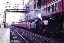 Victorian Railways Steam J512 Flinders Street with the  Vintage Train July 1971