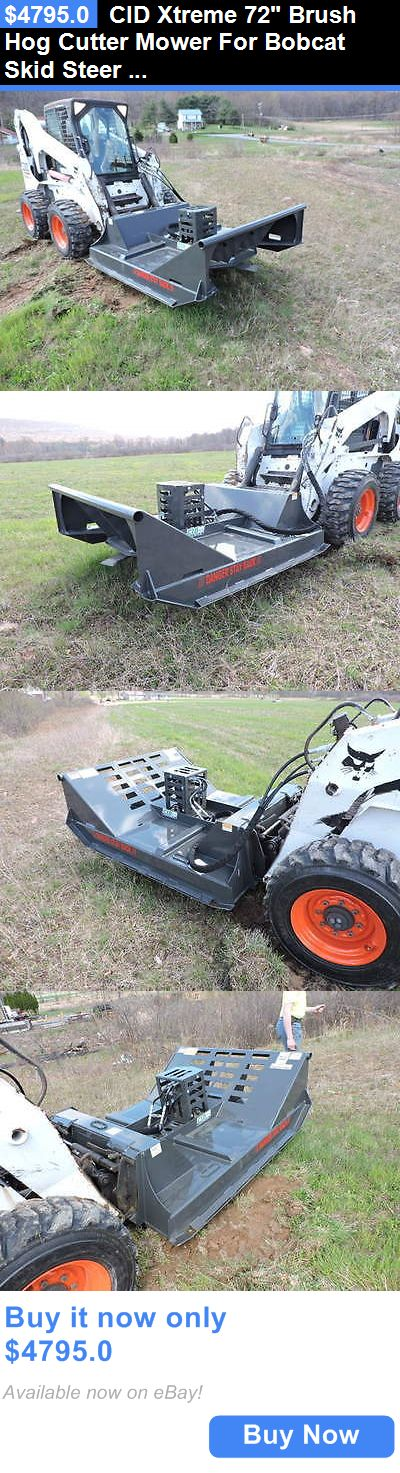 heavy equipment: Cid Xtreme 72 Brush Hog Cutter Mower For Bobcat Skid Steer Loader Attachment !! BUY IT NOW ONLY: $4795.0