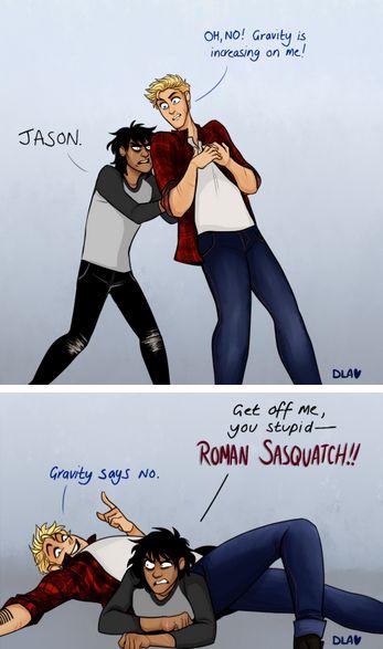 jason and nico + lilo and stitch lol! (art by cindersart on tumblr)