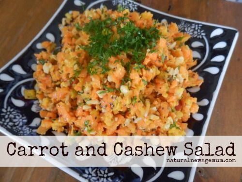 Carrot and Cashew Salad. An easy salad that is full of flavour and packed full of nutrients. Gluten Free, Dairy Free, Egg Free, Sugar Free, Vegan, Paleo.