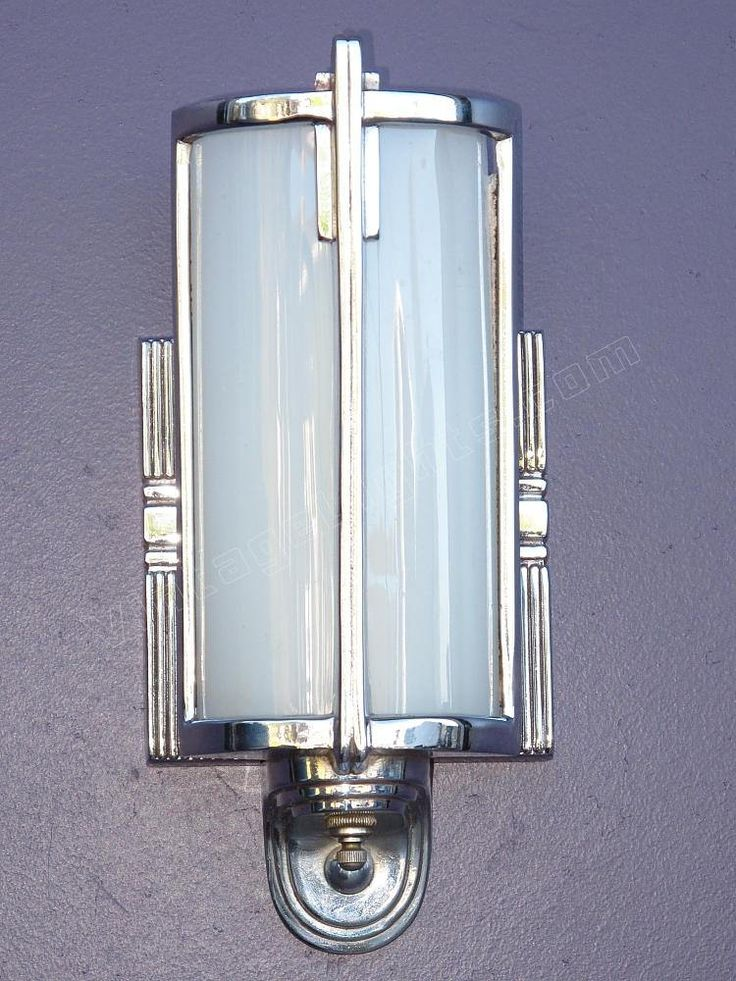 Bathroom Lighting Sconces Chrome 157 best vintage bathroom light fixtures images on pinterest
