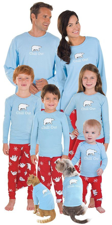 Holiday Matching Family Pajamas >> Chill Out Family Matching Pajamas