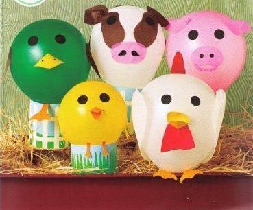Divertidos globos en la fiesta infantil