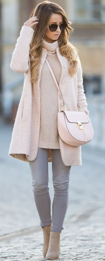 Styloly Beige, Nude And Gray Fall Street Style Inspo                                                                             Source