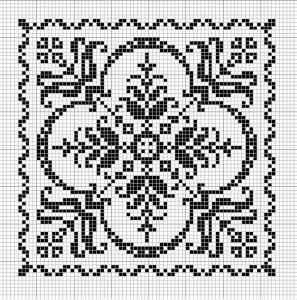 Square 33 | Free chart for cross-stitch, filet crochet | Chart for pattern - Gráfico