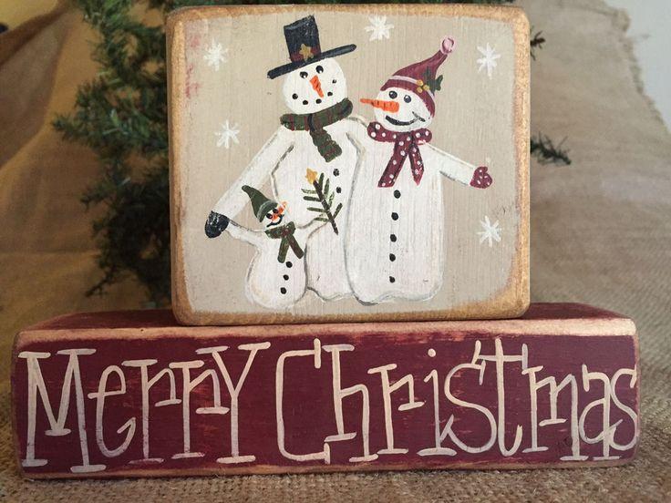 60 best Christmas/Hanukkah Handcrafted Primitive Shelf Sitter Wood ...