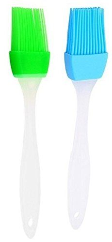 2X Silicon Pastry Brushes Pack Of 2 Bundle Deal Approx 17CM Long - No Hairs - Heat Resistant - Food Safe - Dishwasher Safe - RANDOM COLOURS