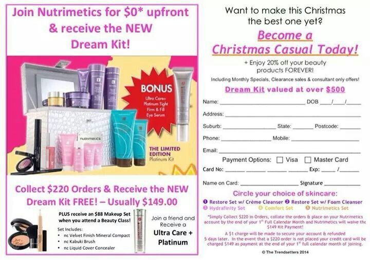 Christmas Casuals wanted!! If your interested in some extra cash and earn the rewards..... look no further. No catch just lots of fun! Call today or check out website www.nutrimetics.com.au_bronessa.smith
