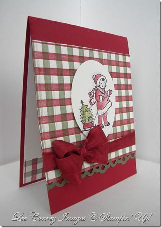 How to create a checkered patterned background using SU Stripes embossing folder and brayer.