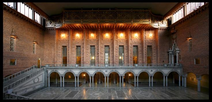 Stockholm City Hall-site of Nobel Awards presentation