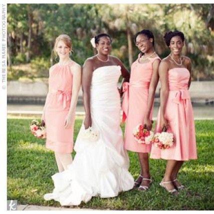 08142011 – Coral Bridesmaid Dresses
