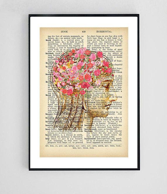 Psychology Art Dictionary Art Print Medical Art Print Vintage