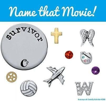 Origami Owl Name That Movie! game. Answer: Cast Away Order online at http://lindsaychrisjohn.origamiowl.com