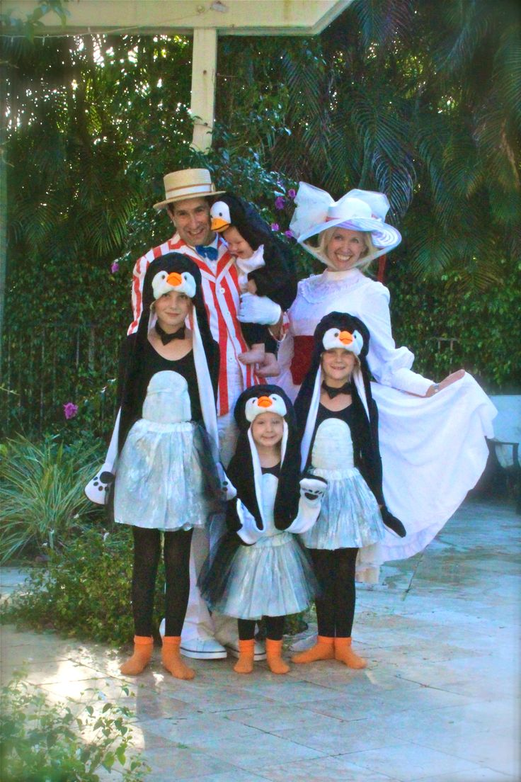 family costume mary poppins bert and the penguins. Black Bedroom Furniture Sets. Home Design Ideas