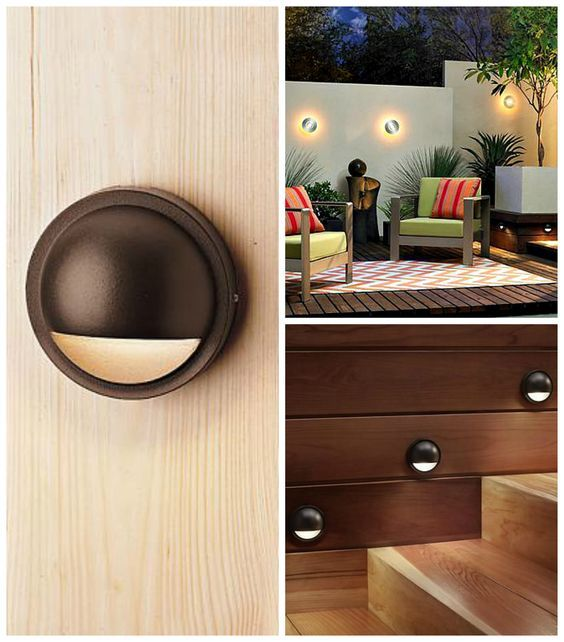 Redefine your outdoor space with this sleek and stylish round, LED deck light from Kichler.