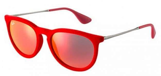 Gafas de sol de terciopelo: fotos de los modelos - Gafas sol terciopelo rojas Ray Ban