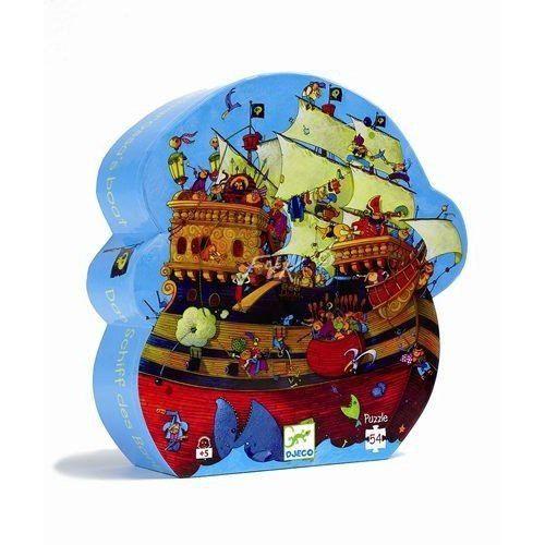Barbarossa hajója- formadobozos puzzle 54 db (Djeco) | Pandatanoda.hu Játék webáruház