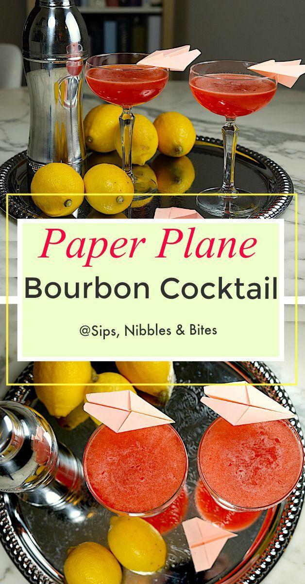 The Paper Plane ist ein relativ neuer Cocktail auf Bourbon-Basis, der von den New Yorkern kreiert wurde   – Food & Drinks Hub
