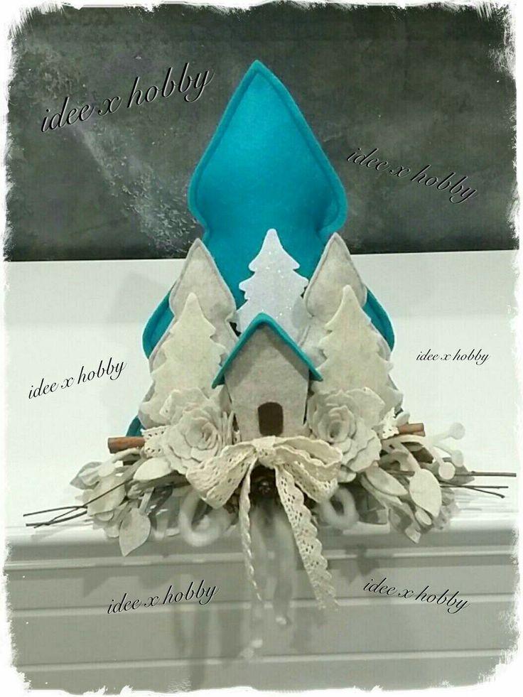 Paesaggio feltro handmade - idee x hobby