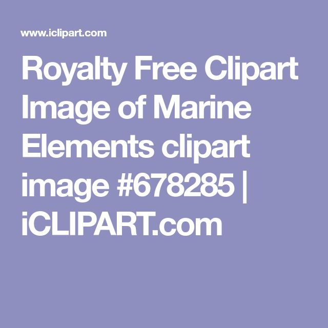Royalty Free Clipart Image of Marine Elements clipart image #678285 | iCLIPART.com