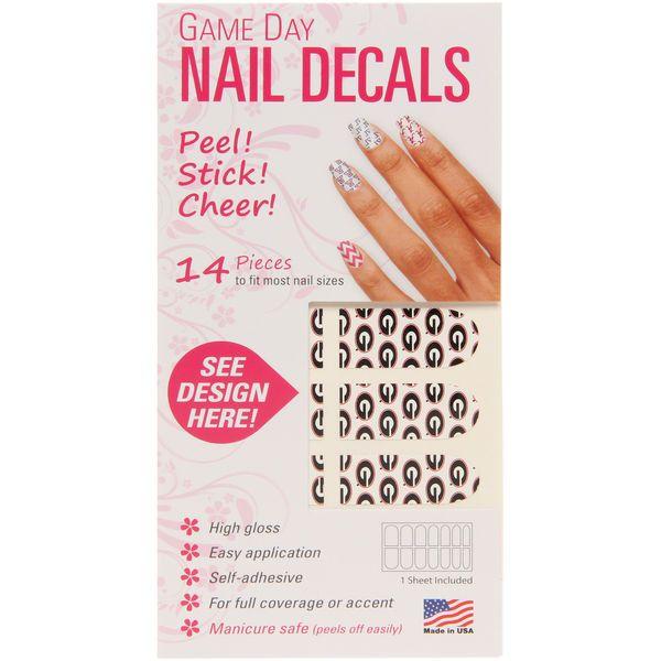 Georgia Bulldogs Game Day Nails