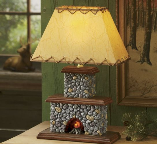 Elegant Lodge Fireplace Lamp From Seventh Avenue ®