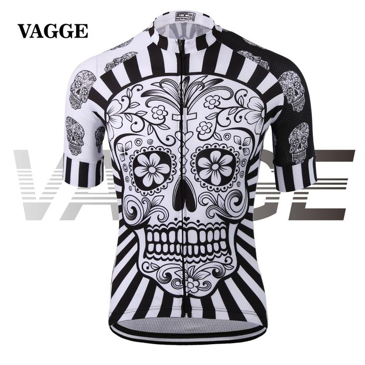 VAGGE skull sublimation printing cycling jersey wear/best 2017 pro polyester cycling clothing/summer men quick dry bicycle wear